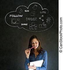 Businesswoman social media - Businesswoman, student or...