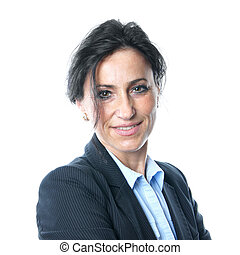 businesswoman - business woman looking confident and smiling