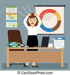 businesswoman, stress