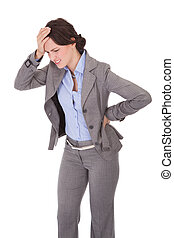 Businesswoman Suffering From Back Pain
