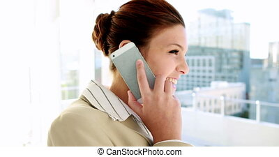 Businesswoman talking on her phone