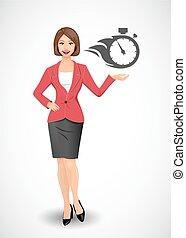 Businesswoman - time management