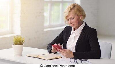 Businesswoman Typing Message