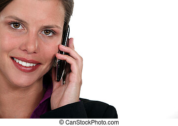 Businesswoman using a cellphone