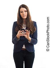 businesswoman using mobile phone