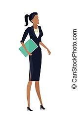 Businesswoman Vector Illustration in Flat Design.