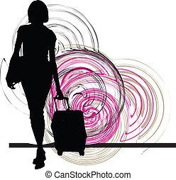 Businesswoman. Vector illustration