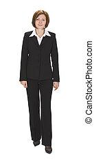 Businesswoman walking