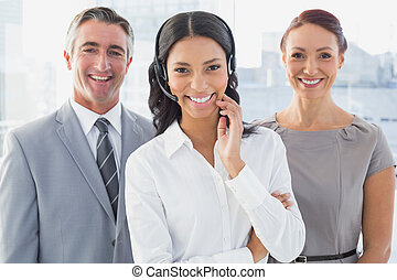 Businesswoman wearing a work