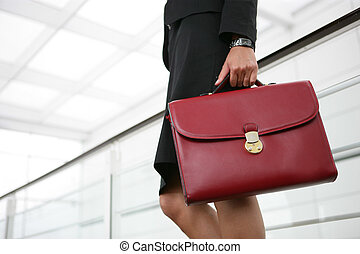 Businesswoman with a briefcase