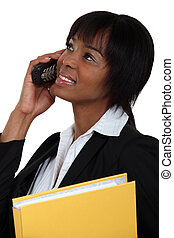 Businesswoman with a cellphone