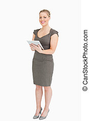 Businesswoman with a tablet computer