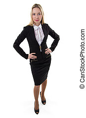 Businesswoman with hands on the waist