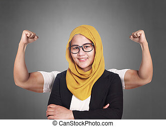 Businesswoman with Strong Inner Power