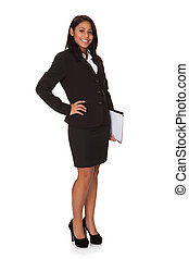 Businesswoman With The File