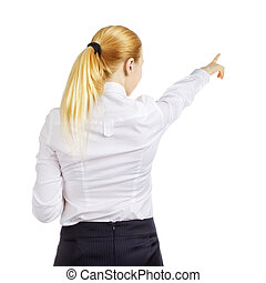 Businesswoman Woman Pointing