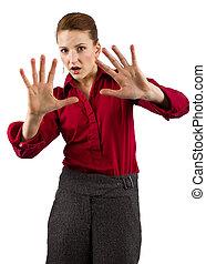 Businesswoman - young caucasian businesswoman