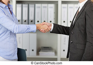 Businesswomans Shake Hands