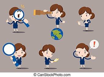 Businesswomen cartoon vector illustration