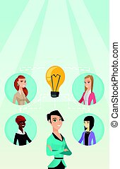 Businesswomen discussing business ideas.