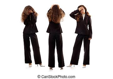 Businesswomen Expressing Negative Emotions