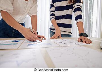 businesswomen, planowanie, praca