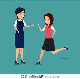 businesswomen professional teamwork cooperation plan
