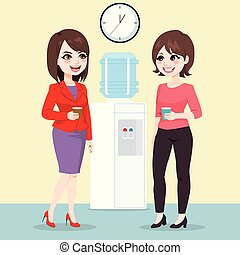 Businesswomen Water Cooler