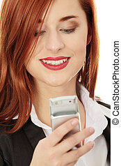 Businesswomen with cellular phone