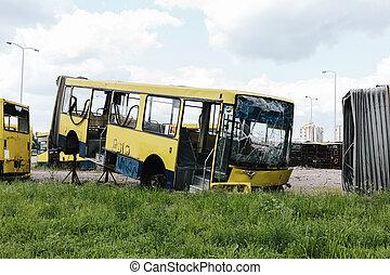 buss, kyrkogård