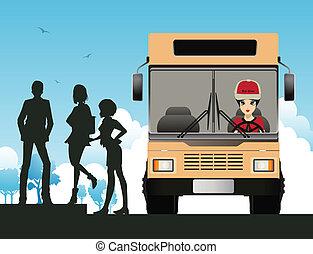 bussa chauffören