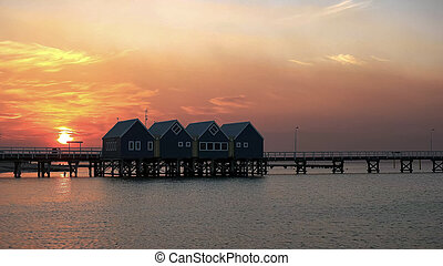 busselton jetty at sunset in west australia