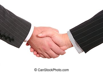 bussines, aperto mão