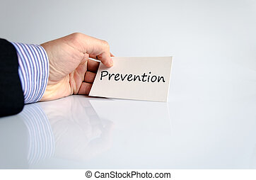 Prevention - Bussines man hand writing Prevention - business...