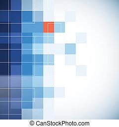 bussines, plano de fondo, con, mosaico, efecto