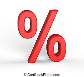 Bussines symbols. 3D percentage