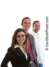 Bussines team on white background