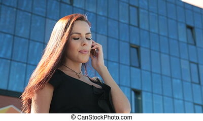 Bussines Woman On The Phone Outdoor