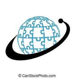 Bussiness globe logo
