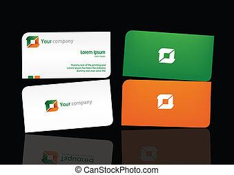 bussiness, komplet, 01, szablon, logo, karta