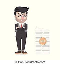 bussinessman got a rejected work vector illustration