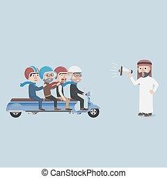 bussinessmans got yelled by arabian vector illustration