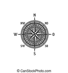 bussola, simbolo, vendemmia, segno