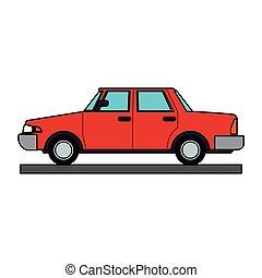bussola, veicolo, cartone animato