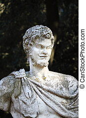 Bust of a roman statue in Rome, Italy
