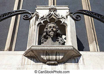 Bust of King Charles 1st in London