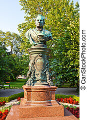 Bust of mayor Andreas Zelinka in Vienna, Austria - Bust of...