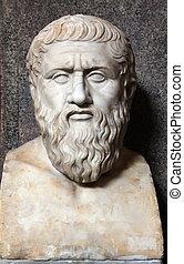 buste, (c.427-347, bc), plato