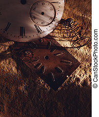 Busted clock face - Picture of Busted clock face