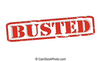 Busted - Rubber stamps with word busted inside, vector...